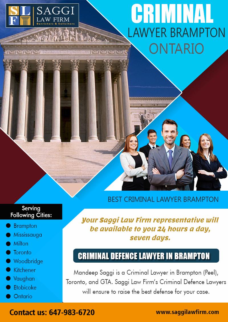 Experienced Brampton Criminal Lawyer